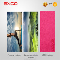 EXCO new design natural rubber custom thickness comfortable suede-like material animal yoga mat