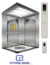 passenger elevator lift with hairline stainless steel cabin and doors