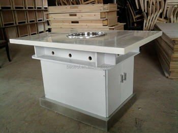 2017 Custom Commercial Artificial Marble Hot pot Table