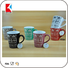 two tone color glaze milk mug stoneware promotional gift drinking cup ceramic antique for coffee
