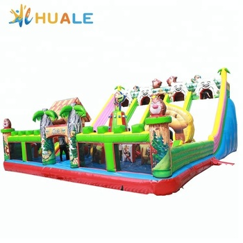 huale hot inflatable bear jumping castle, playing castle inflatable bouncer, inflatable combo inflatable toy