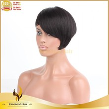 Highest quality natural color 5a Brazilian virgin hair bob style remy hair wig