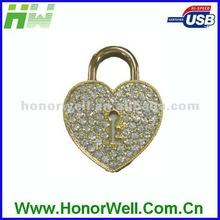 Jewelry USB flash drive love lock series