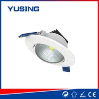 Spinning style 185-265V COB cheap small plastic recessed LED downlight LED down light for antler chandeliers