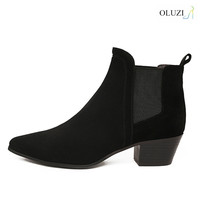 OlzB31 beautiful low block heel practical cheap wholesale mid-claf upper dress shoes