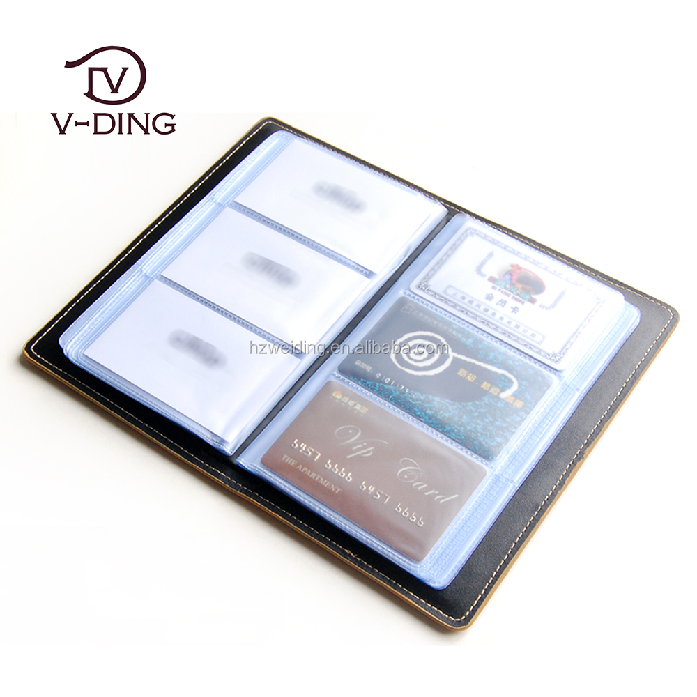 vding professional supplier from China new product customized LOGO high quality leather card case a5