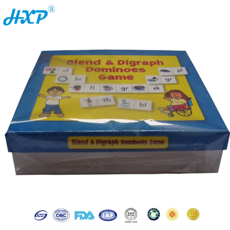 Cardboard box 1-Layer SBB Dominoes Game Card for Kids