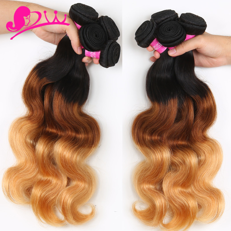 Cheap Ombre Brazilian Hair 4 Bundles Hot Selling Brazilian Body Wave Hair Extesnions
