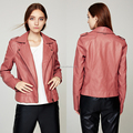 2018 factory price hot fashion design custom oblique zip motorcycle lady pure leather jacket