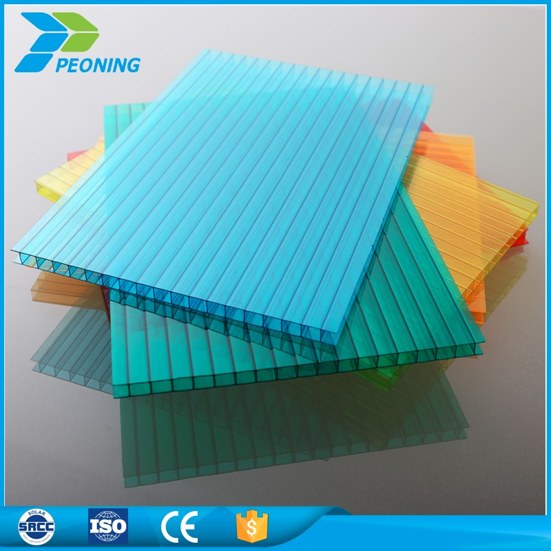 transparent polycarbonate solar panel hollow roofing sheet