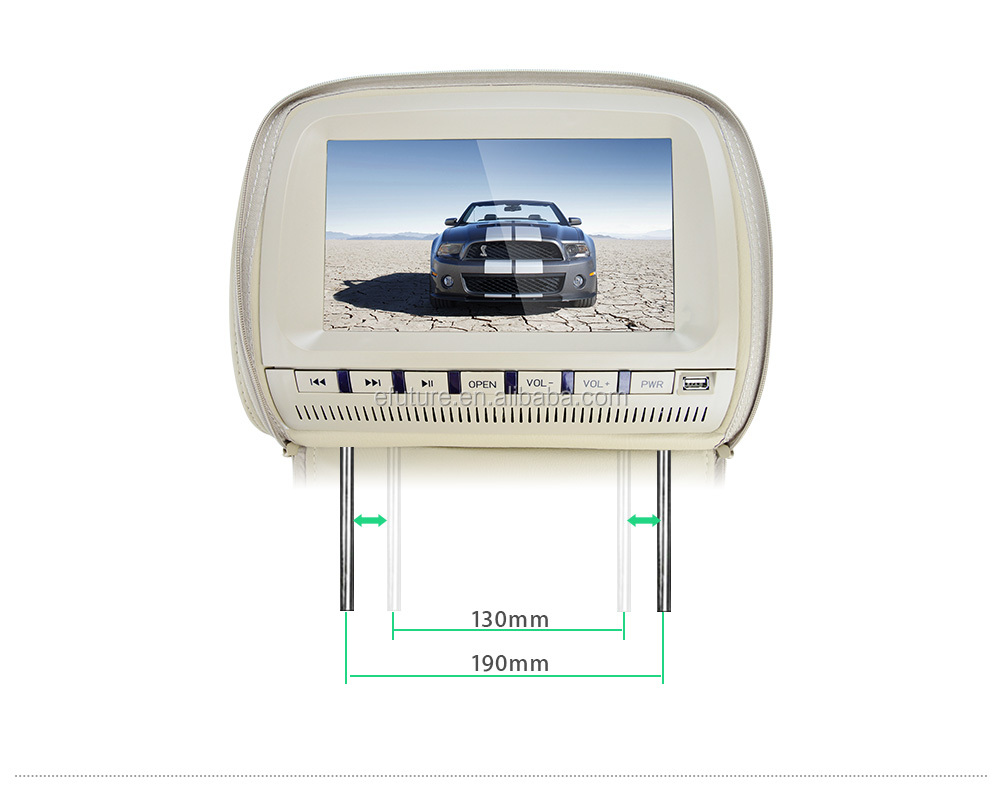 Auto electronics 9 inch Car DVD headrest monitor