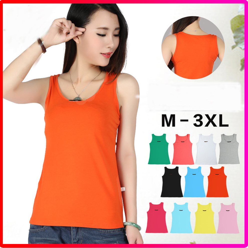 High Quawlity Wholesale 100% Cotton Blank Women Tank Tops Vests