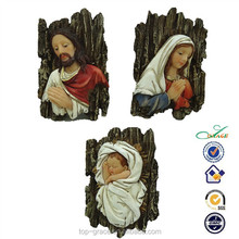 Resin holy family wooden religious statues