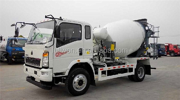 Howo light 6 cubic meters concrete mixer truck dimension