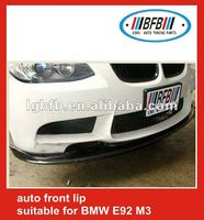 AUTO CARBON FIBER FRONT BUMPER LIP SPOILER FOR BMW E92 M3