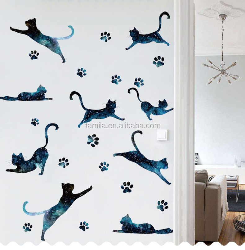 kids room Cute cat wall decorative sticker kids room