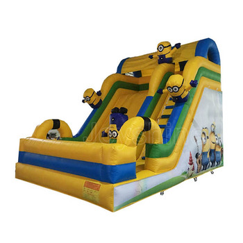 Wholesale Large Air Filled Bouncy Castle Stair Climbing Slides Game Bouncer Outdoor Used Dry Inflatable Slide For Kids