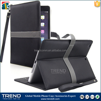 Children kid proof protective ribbon leather case for ipad mini