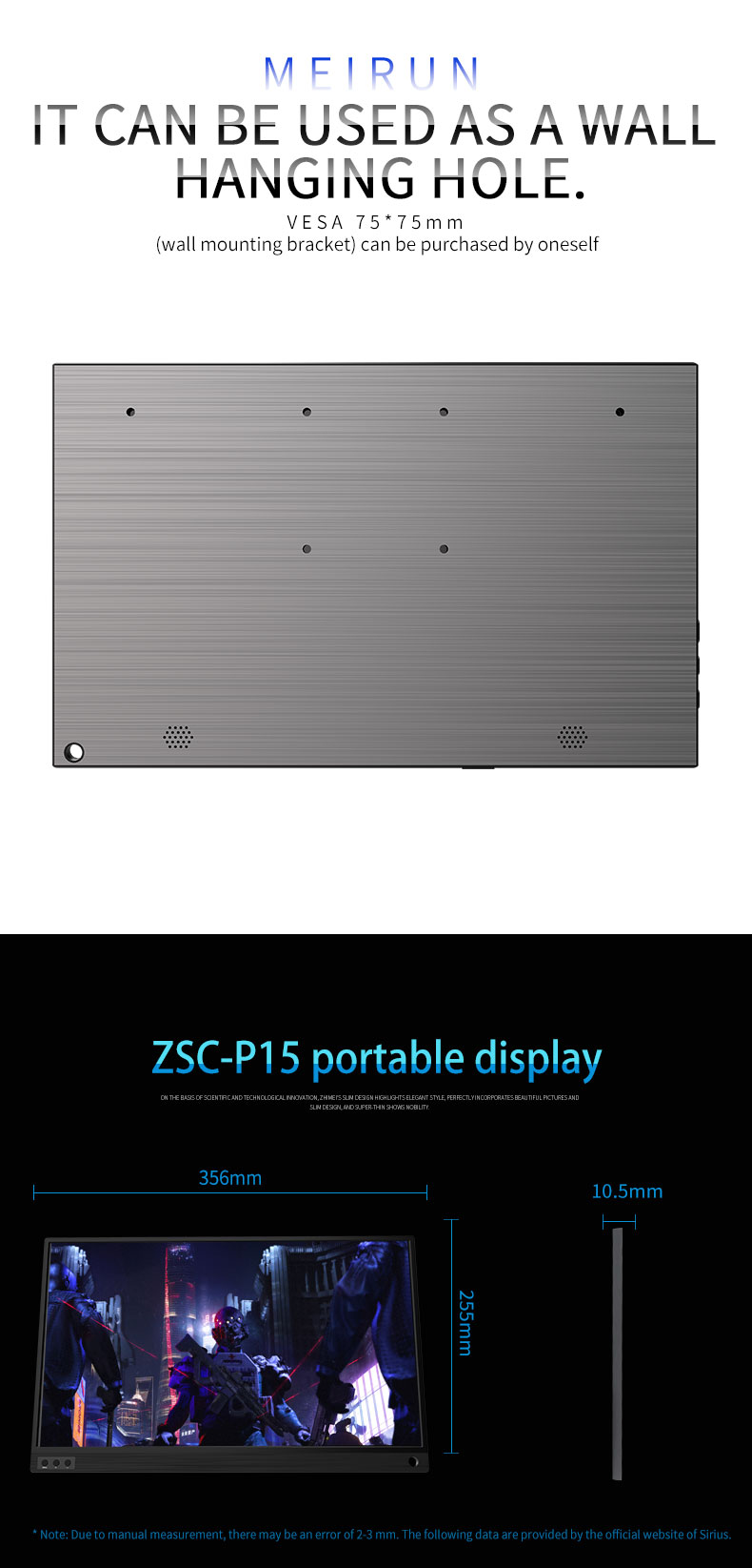 Hot sell 15.6 inch IPS panel capacitive touch portable screen monitor