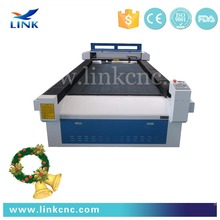 China Link 1325 laser coconut cutter / blanket manufacturing machinery with Hiwin rail guide