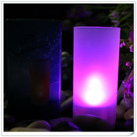 Flickering Party Wedding Plastic Hurricane Candle Holders