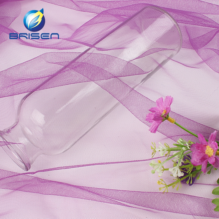 Durable wedding bridal purple cheap wholesale tulle roll