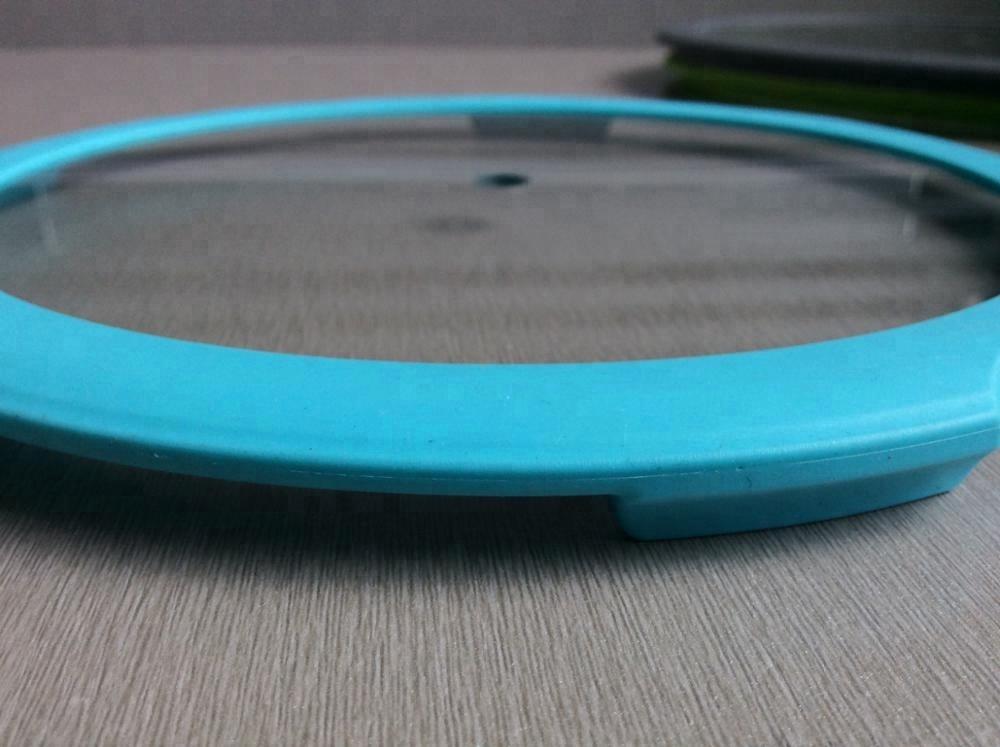De silicona de alta calidad de vidrio microondas tapa s lice borde cubierta con vapor agujeros - Silicona para microondas ...