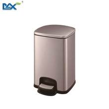 Foot pedal waste bin container ,indoor design metal pedal bin