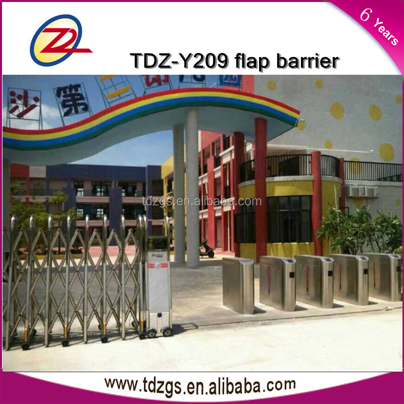 Access control flap turnstile barrier gate with entrance security solutions for school
