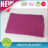100% polyester cheap printed or Solid dyed fleece blanket airline travel blankets Customized airline blanket