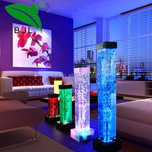 RGB LED water bubble columns light up pillar for wedding party