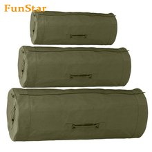 Side Zipper Heavy Duty Canvas Military Duffle Bag Overnight Travel Large Top Load Roll Sports Equipment Bag