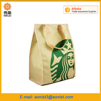 Nylon Lunch Bag with Velcro Closure Package Thermal Cooler Bags for Food