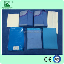 The directly price from factory ETO Sterile hospital use Disposable nonwoven surgical drape Delivery pack
