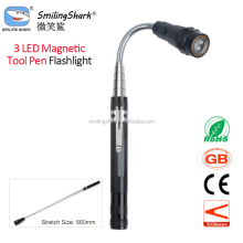 Smiling Shark Magnetic 3 LED FlashLight Telescopic Flexible Neck Pick Up Tool Telescopic Flashlight With Magnet