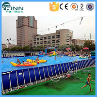 Customize Commercial Large Metal Frame Molded Plastic Swimming Pools