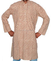 Cotton Block Printed Gents Long Kurta/Ladies Kurti in Jaipur India