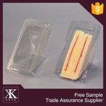 2015 Eco-friendly Material Clear Plastic Packaging Box For Sandwich