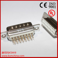 D-sub db connector for board male 15 pin
