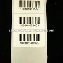Custom printing high quality clothes weighing scale barcode label