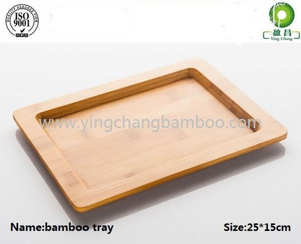 Solid cheap bamboo tray