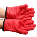 Cotton Lining Heat Resistant Silicone Kitchen Gloves Great for Baking, Cooking, BBQ