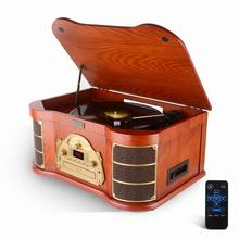 Classic Design Gramophone Wooden Design Phonograph with raido, CD, cassette tape, USB and Bluetooth