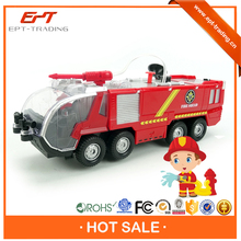 Battery operated water jet fire fighting truck toy