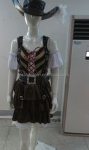 Hot Sale Christmas costume Carnival Party Costume Sexy Costume Pirate Costume with hat