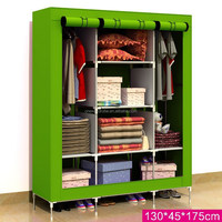 Huge size non-woven portable closet with cover T-160B