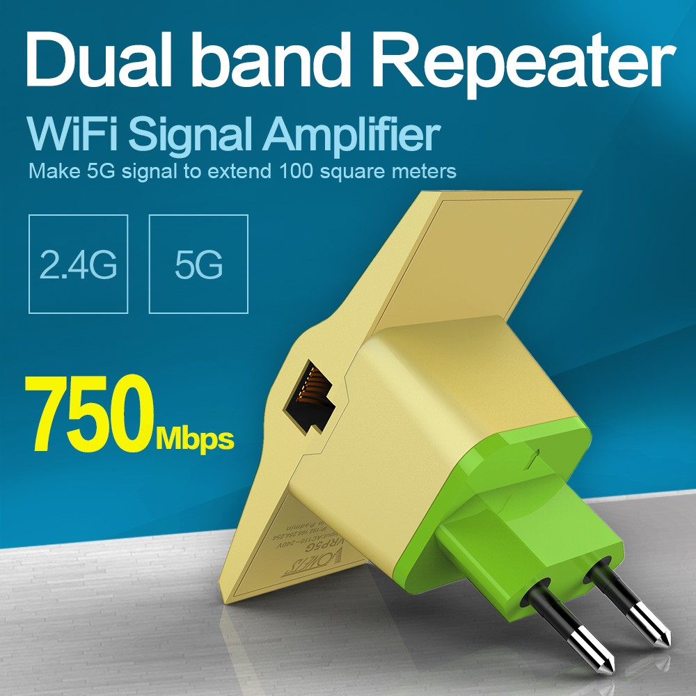 Wireless network 750Mbps 2.4g and 5g Dual Band portable Wifi Repeater Extender