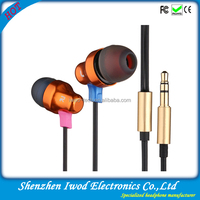2014 earphone with metal housing for LG ipad iphone best selling in market of electronic