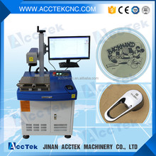 Low price copper,silver,gold pvc marking printing machine/fiber laser marking machine for metal tube,glass cup,steel ruler