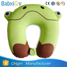 animal shaped frog neck pillow, plush frog pillow